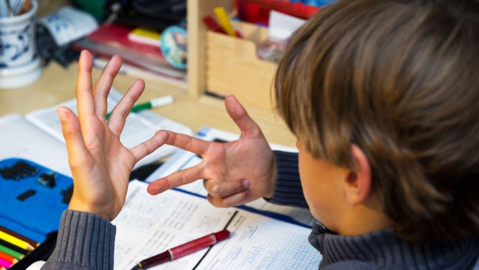 Schüler im Mathematikunterricht (Symbolbild)