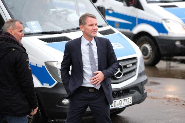 AfD-Politiker Höcke (rechts)