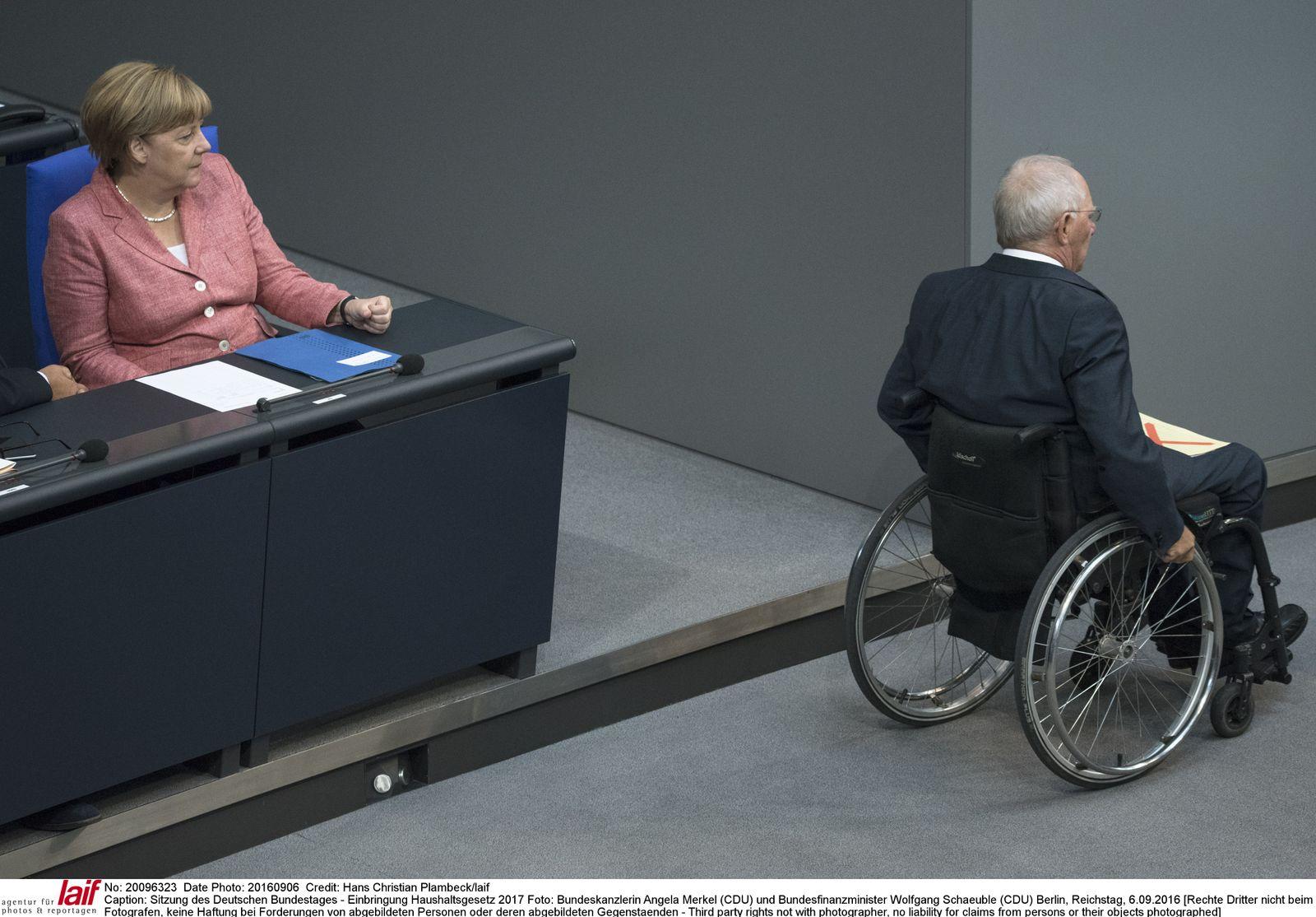 EINMALIGE VERWENDUNG SPIEGEL PLUS Merkel Schäuble