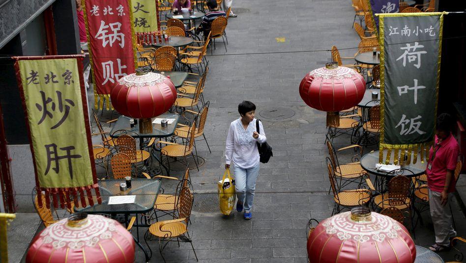 Einkaufsstraße in Peking: Deutlicher Dämpfer