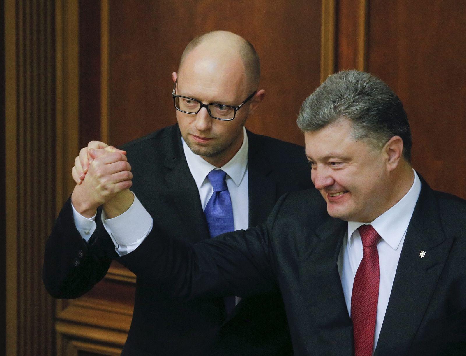 Jazenjuk & Poroschenko