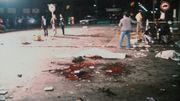 Bombenterror vor dem Bierzelt