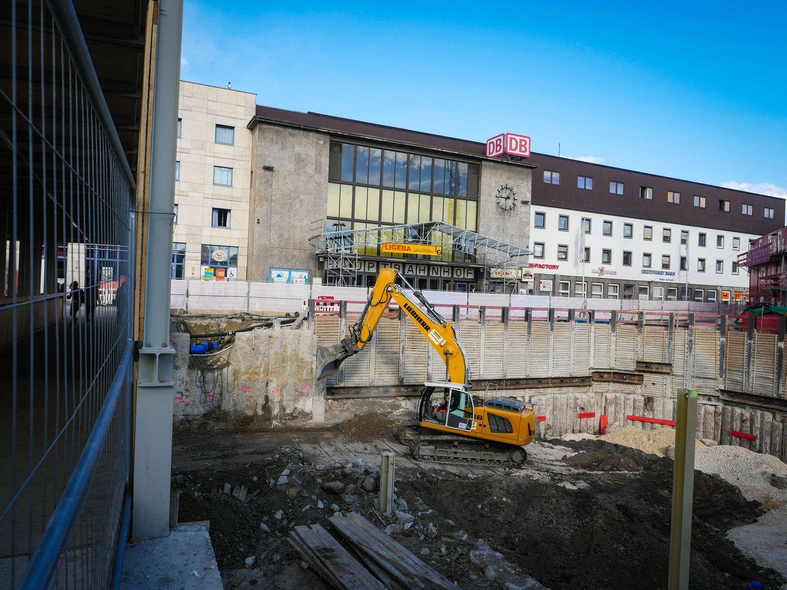 EINMALIGE VERWENDUNG Ulm/ Hauptbahnhof/ Baustelle