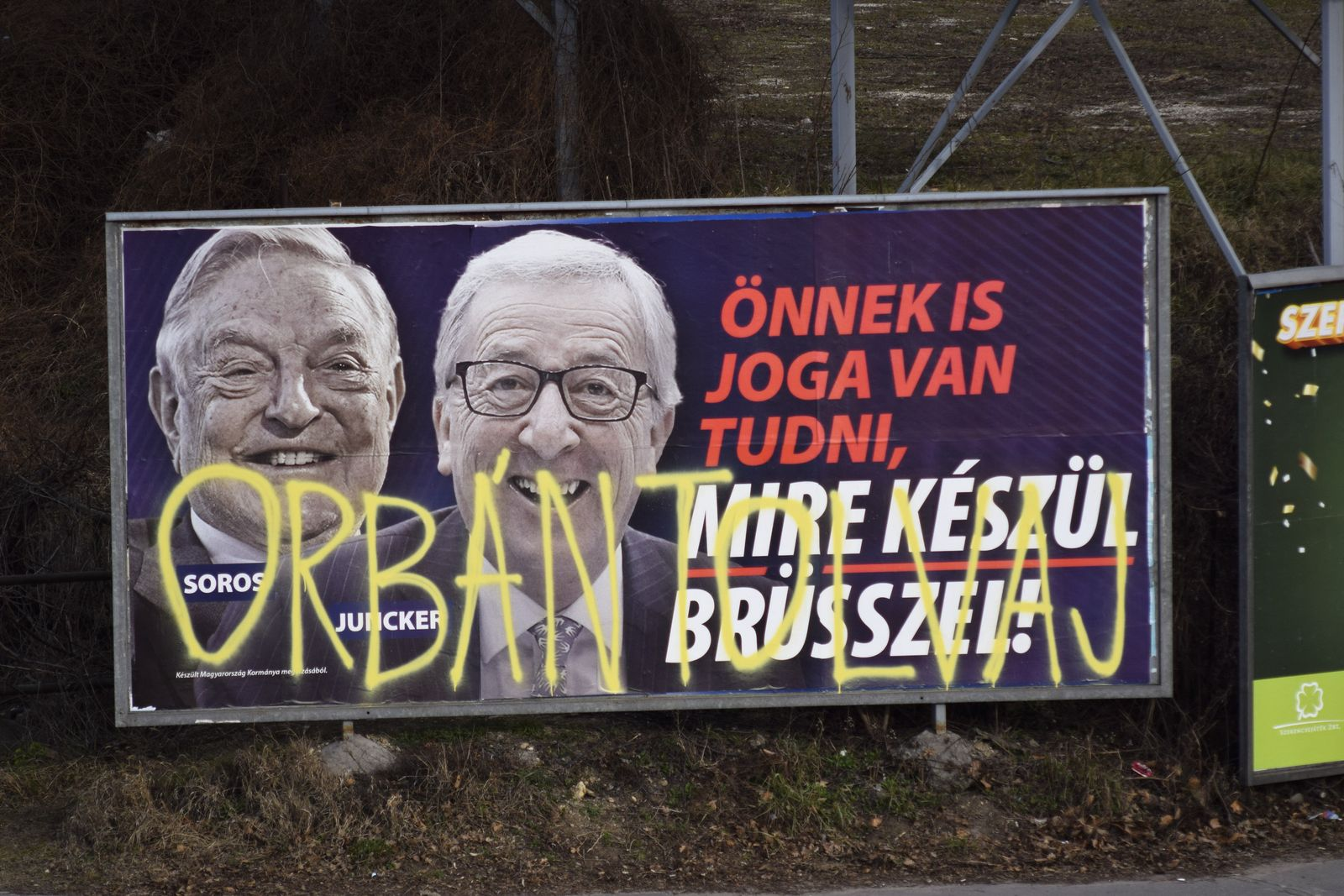 Ungarn Kampagne Juncker