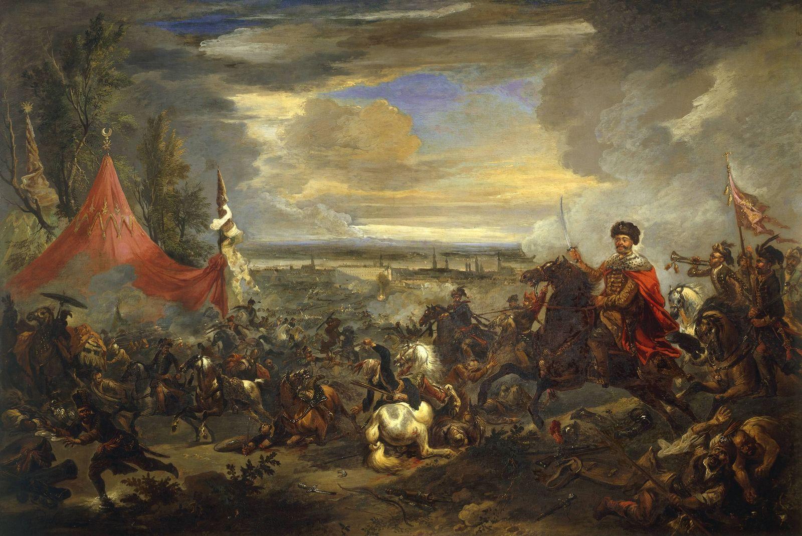 EINMALIGE VERWENDUNG Türkenkriege/ Schlachtengemälde/ Kahlenberg/ Wien/ Belagerung