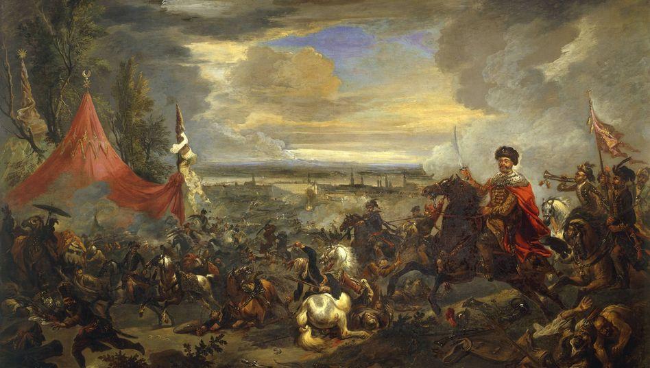 Schlacht am Kahlenberg, 12. Sept. 1683. Gemälde von Jan Wyck. Bereits 1529 hatten türkische Heere Wien belagert.