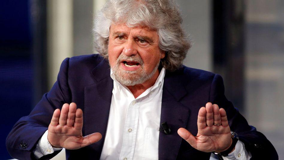 Politiker und Komiker Beppe Grillo