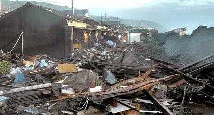 Zerstörungen durch einen Taifun in Japan: Treibhauseffekt löst immer mehr Naturkatastrophen aus