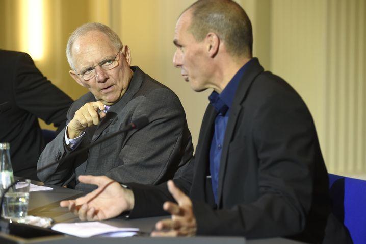 "Finanzminister Schäuble, Varoufakis: ""We agreed to disagree"""