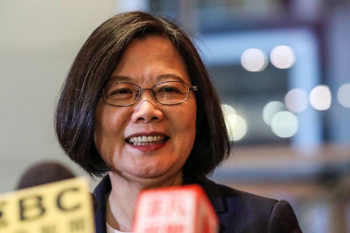 Taiwans Präsidentin Tsai Ing-wen ist zu Besuch in New York - eine Provokation für China