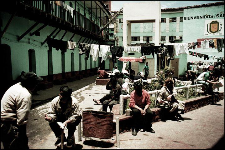 Der Innenhof von San Pedro: Tagsüber war es weitestgehend friedlich