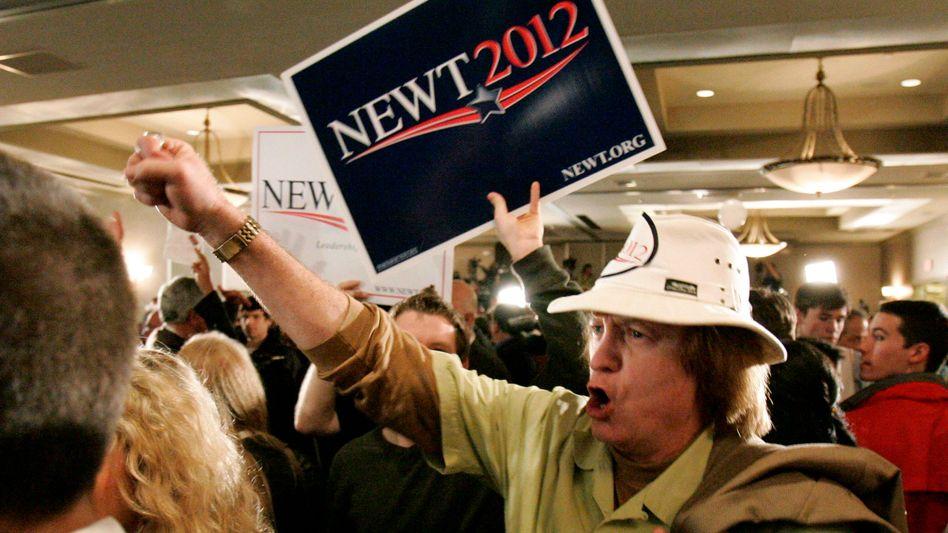 Anhänger von Newt Gingrich: Jubel über den ersten Sieg