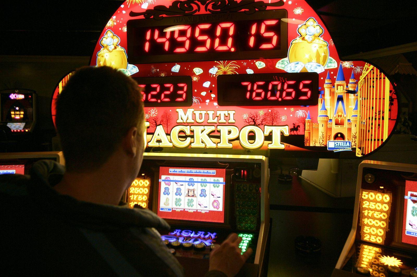 EINMALIGE VERWENDUNG Spielautomat