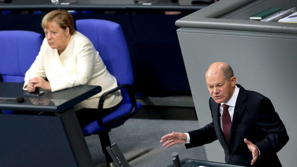 """Bundesfinanzminister Olaf Scholz: """"Das ist sehr, sehr viel Geld"""""""