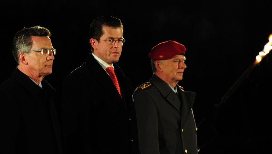 Verteidigungsminister de Maizière, Vorgänger Guttenberg: Falscher Eindruck erweckt?
