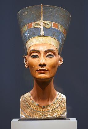 Berlin's most treasured museum exhibit -- the bust of Egyptian Queen Nefertiti.