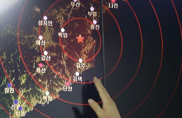 Bilder der Detonation durch den Test am Freitag