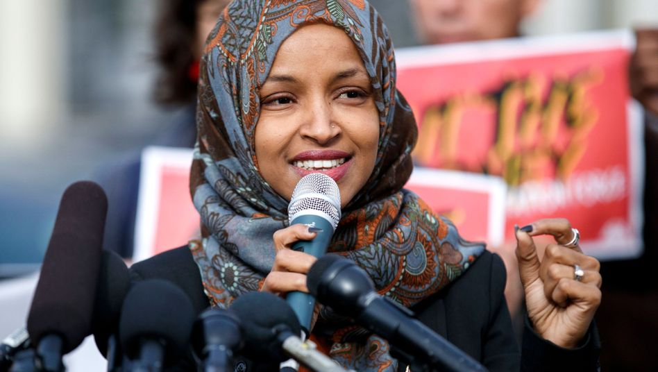 Demokratische Kongressabgeordnete Ilhan Omar