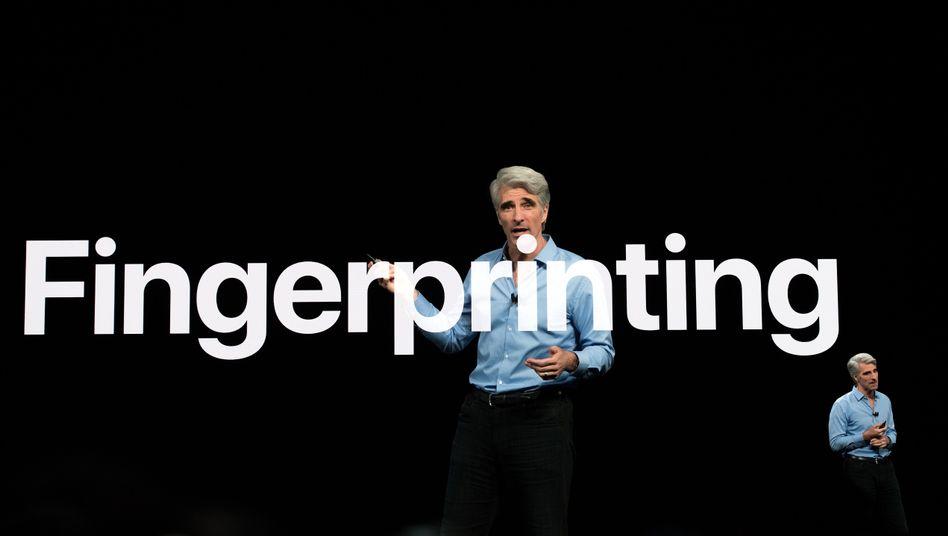 Apple-Softwarechef Craig Federighi auf der WWDC