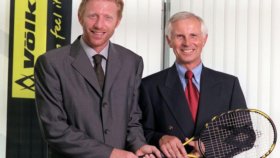 Boris Becker und Hans-Dieter Cleven im Juli 1999