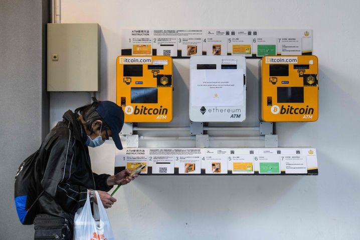 Bitcoin-Automat in Hongkong