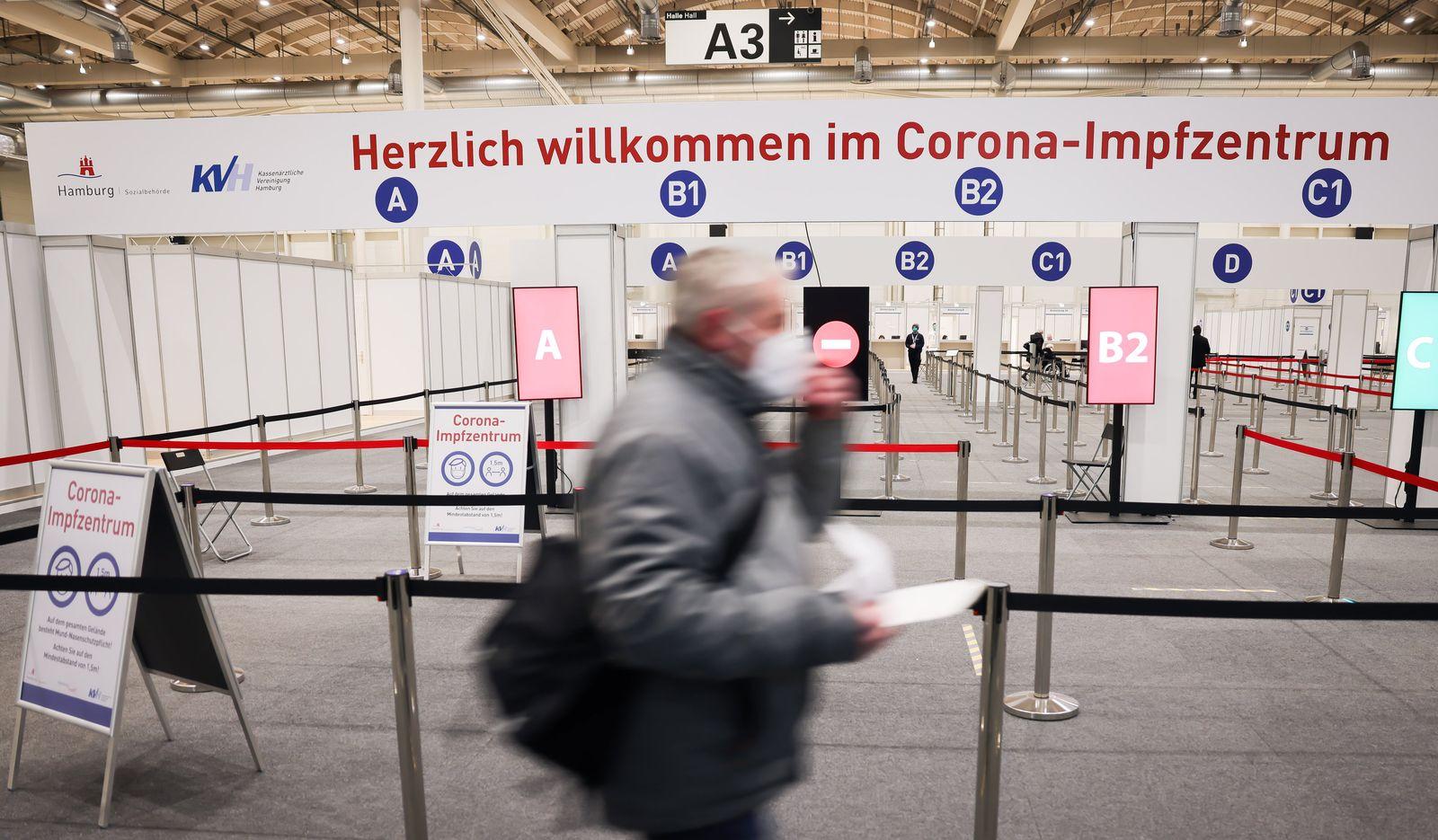 Coronavirus - Zusätzliche Halle «A2» im Hamburger Impfzentrum