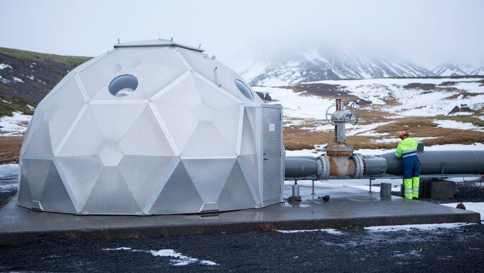 CO2-Verpressung in Island: Weltweit erste Anlage ihrer Art