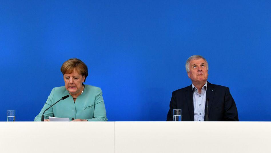Kanzlerin Angela Merkel, CSU-Chef Horst Seehofer
