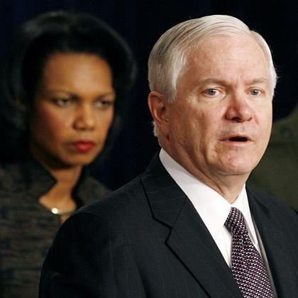 Bush-Minister Rice, Gates: Truppenverstärkung angekündigt
