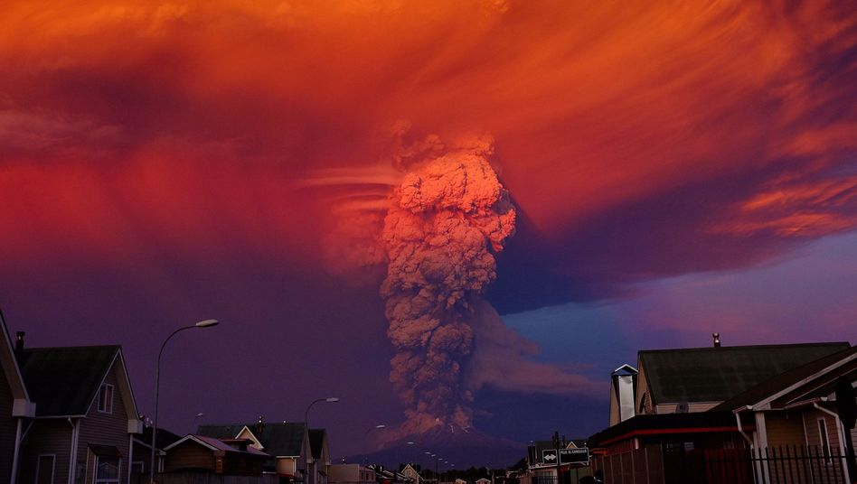 Eruption des Calbuco: Tausendeflüchten vor Vulkanausbruch in Chile