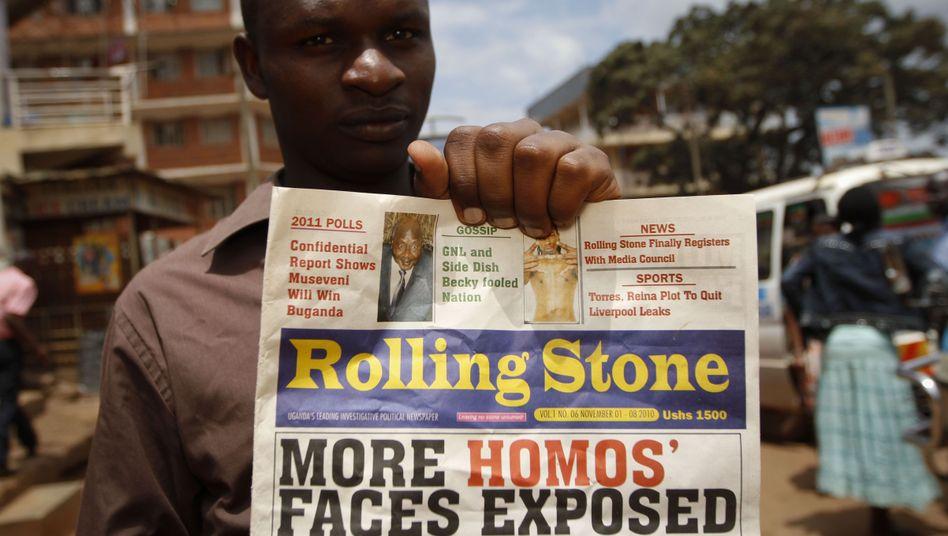 "Ugandisches Boulevardblatt ""Rolling Stone"": Schwulenfeindliche Kampagne"