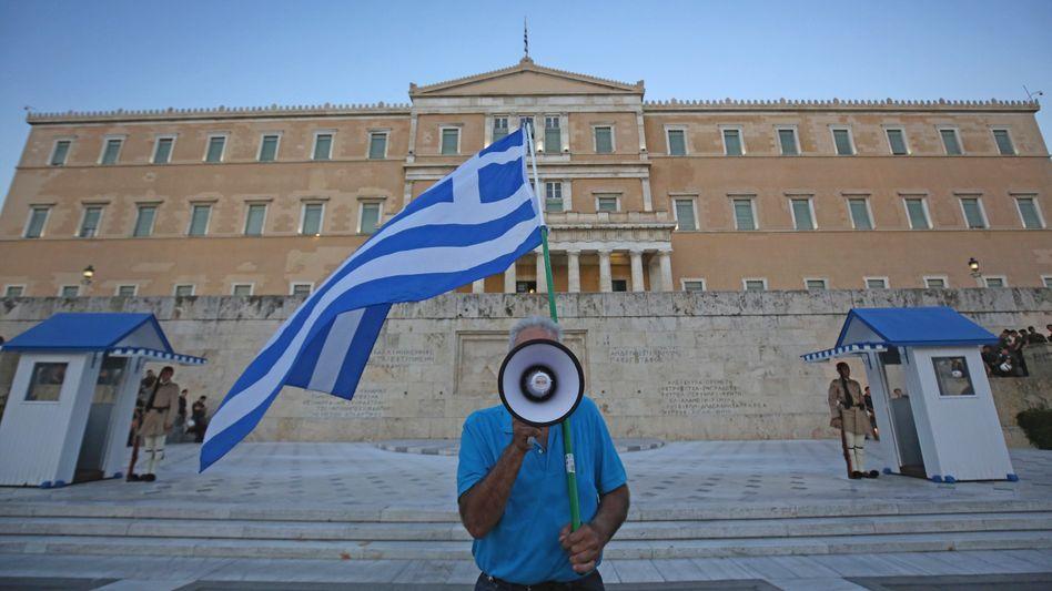 Demonstrant in Griechenland: Referendum über Rettungspolitik spaltete das Volk