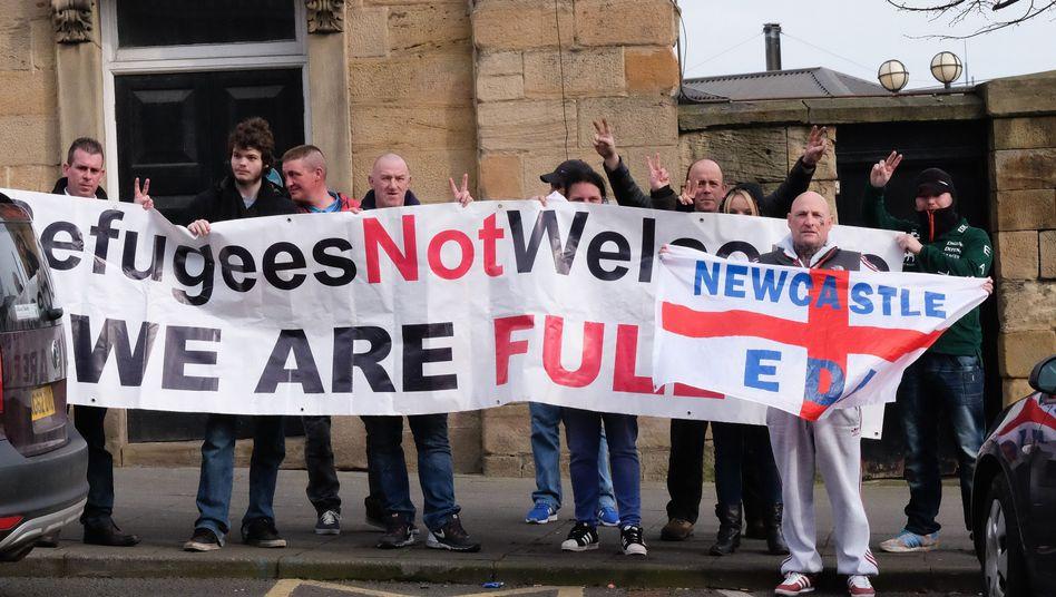 Fremdenfeinde in Newcastle-Upon-Tyne, England
