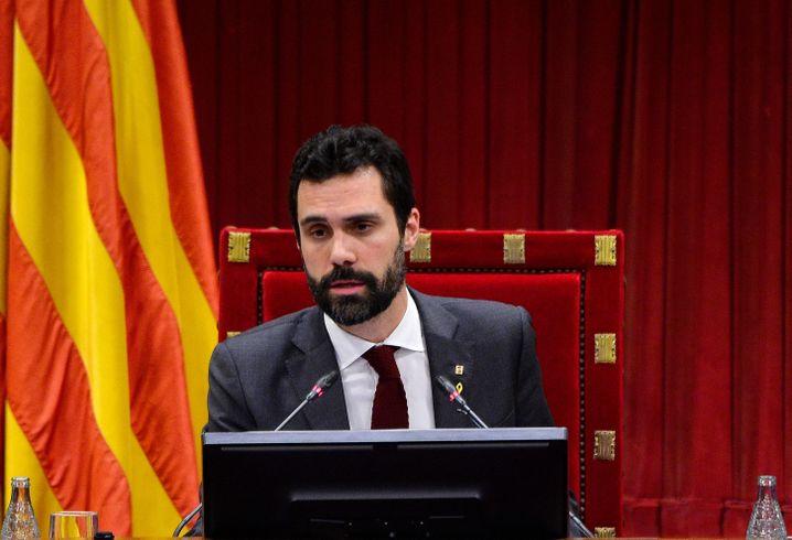 Katalanischer Parlamentspräsident Roger Torrent