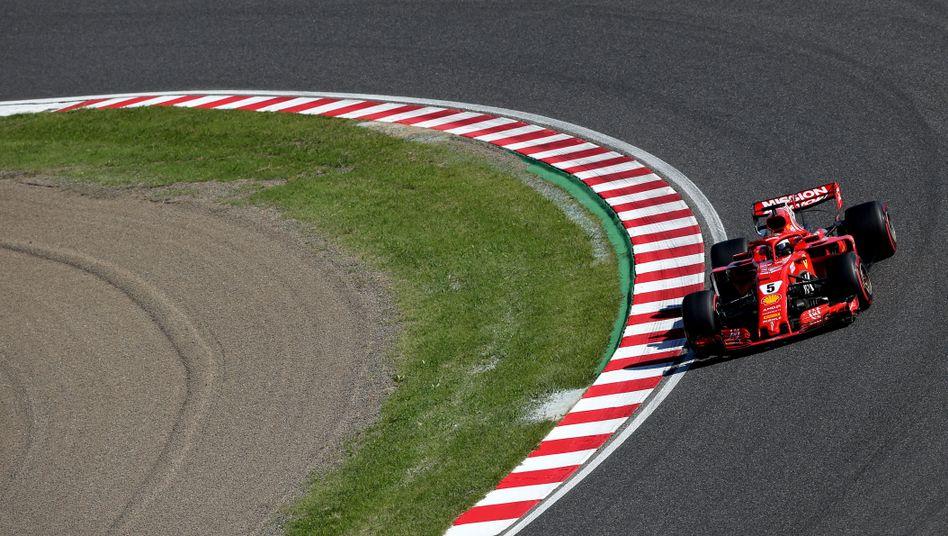 Sebastian Vettel dreht seine Runde