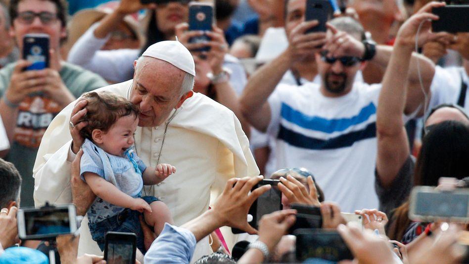 Papst Franziskus bei seiner Generalaudienz
