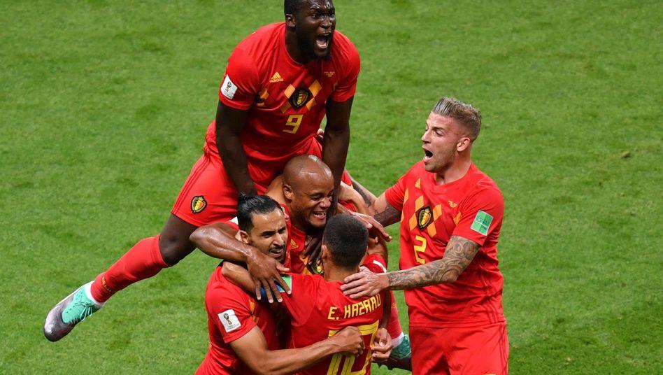 Jubelnde Belgier