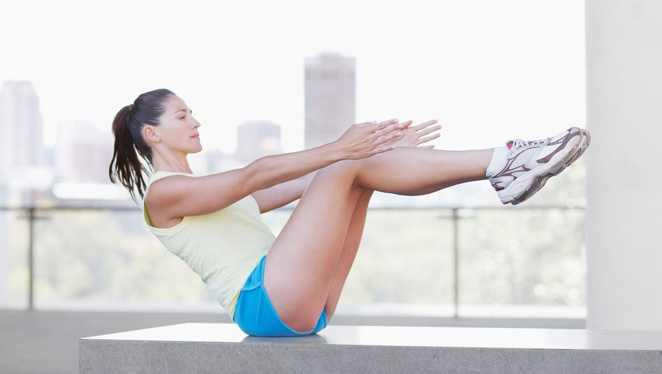 Fitnessübung: Das Klappmesser ist eine verschärfte Version der bekannten Sit-ups