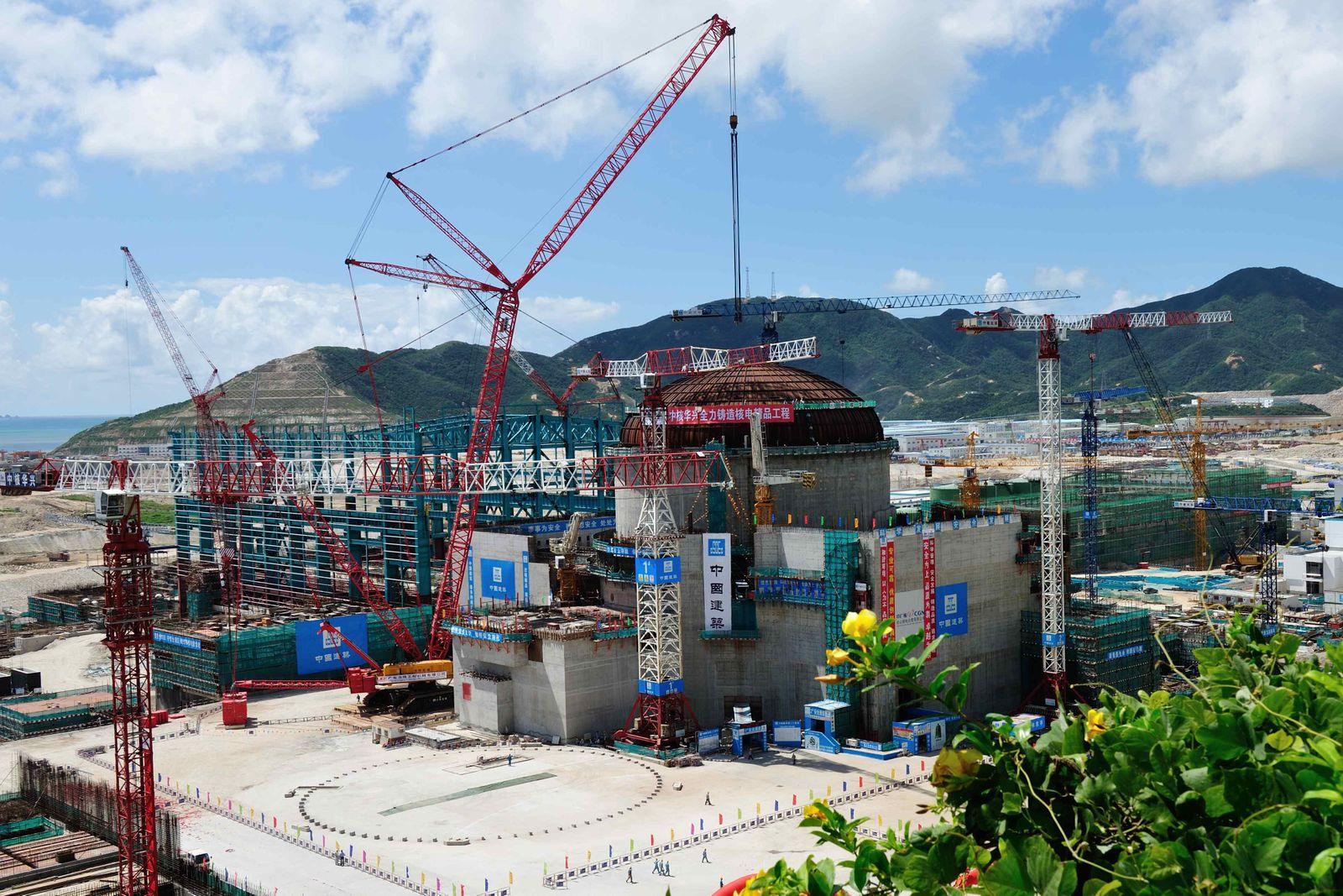 Bauarbeiten an chinesischem Atomkraftwerk