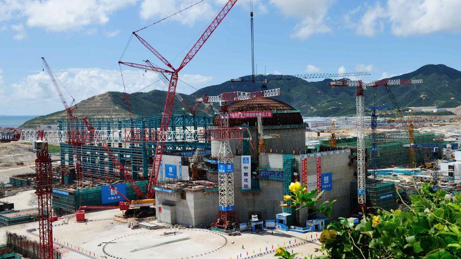 Atomkraftwerk Taishan während der Bauphase (Archivbild)