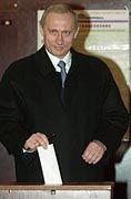 Siegessicher an der Wahlurne: Wladimir Putin