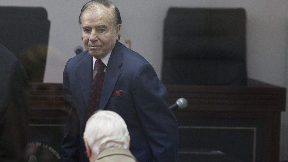 Argentiniens Ex-Präsident Menem: Von 1989 bis 1999 Präsident