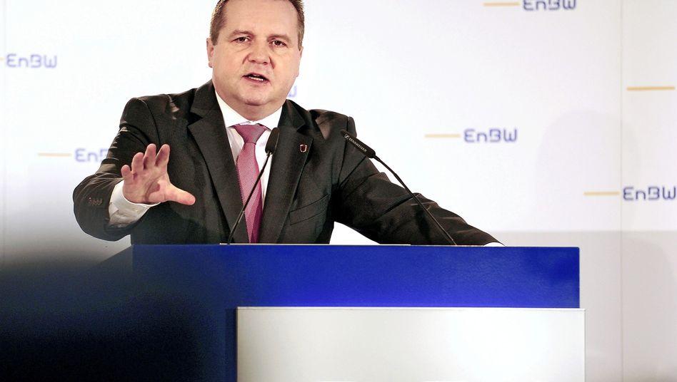 Ex-Ministerpräsident Mappus während einer Pressekonferenz 2010: Dubioser Deal