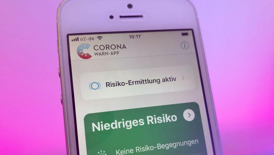 Die Corona-Warn-App auf einem iPhone 5s von 2013