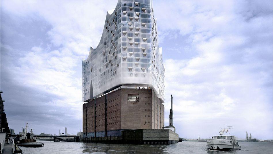 Elbphilharmonie im Hamburger Hafen (Computeranimation): Eröffnung erst 2013?