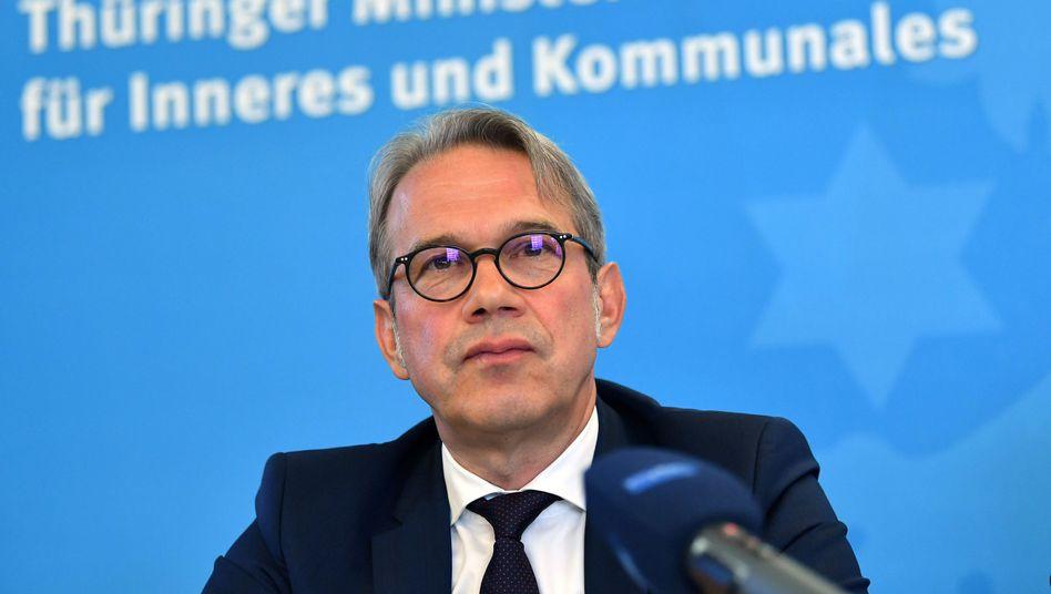 """Thüringens Innenminister Georg Maier: """"Gerade im ländlichen Raum treten Neonazis heute unverhohlen auf"""""""