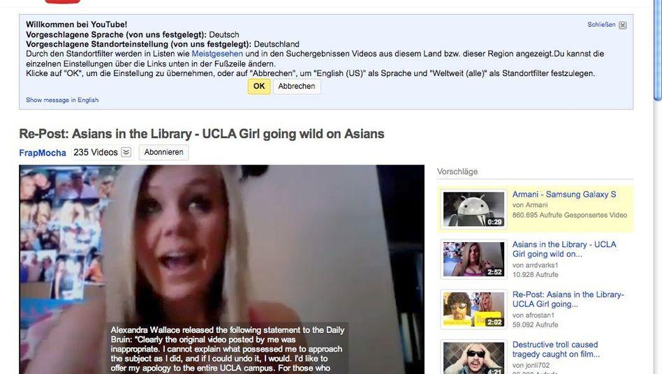 """Provokation: Eine Studentin beschimpft auf YouTube """"Asiaten in der Bibliothek"""""""