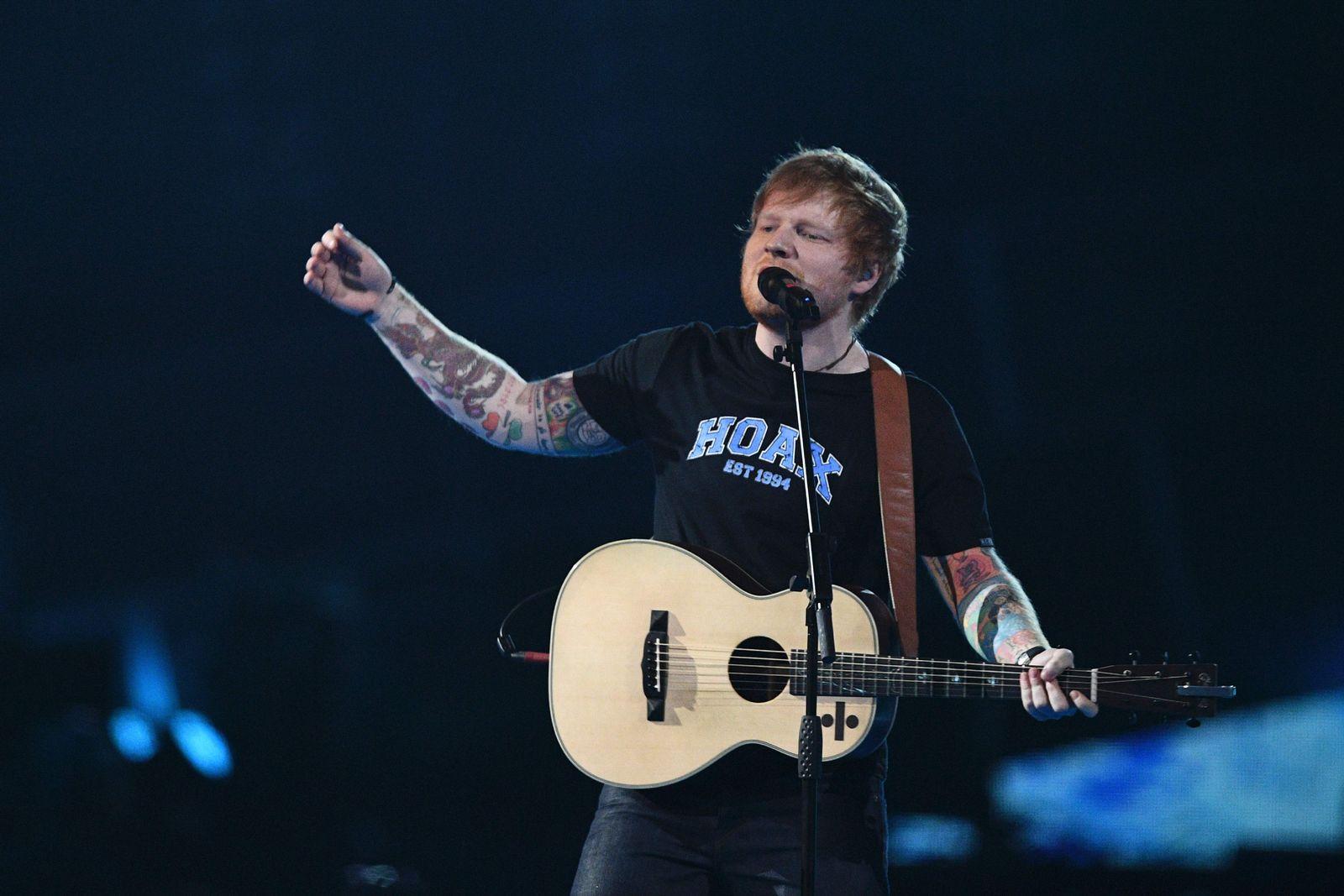 EINMALIGE VERWENDUNG Ed Sheeran