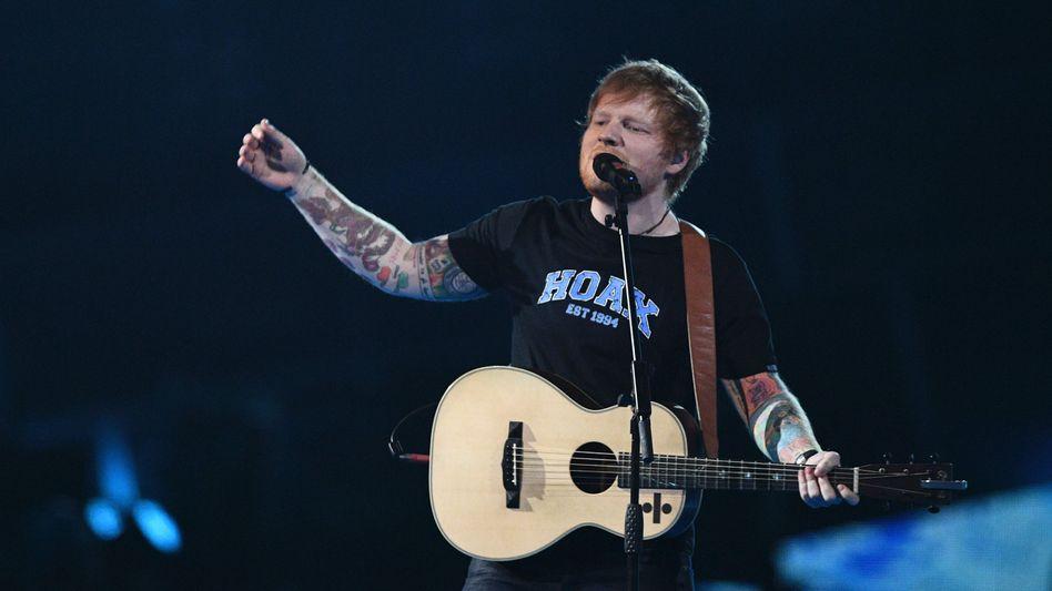 Ed Sheeran bei den BritAwards Ende Februrar