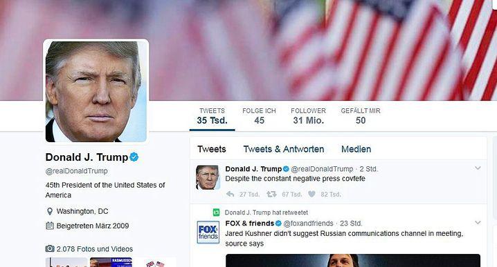 Tweet von US-Präsident Donald Trump